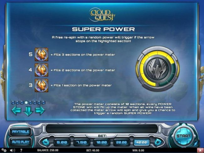 Joker Casino featuring the Video Slots Cloud Quest with a maximum payout of $100,000