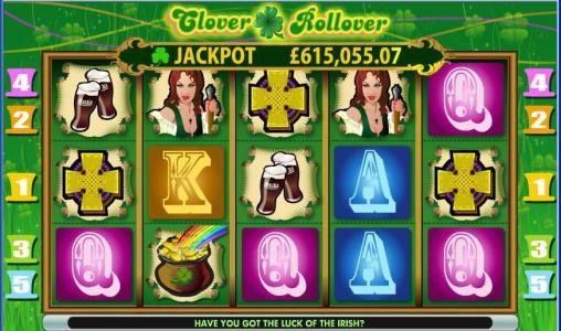 Cheeky Riches featuring the Video Slots Clover Rollover with a maximum payout of $10,000
