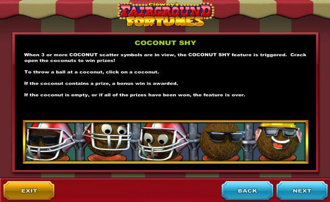 Clowny's Fairground Fortunes :: Coconut Shy