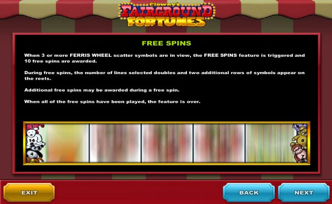 LesA Casino featuring the Video Slots Clowny's Fairground Fortunes with a maximum payout of $150,000