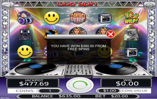 Big Spin featuring the Video Slots Club Spin with a maximum payout of $500,000
