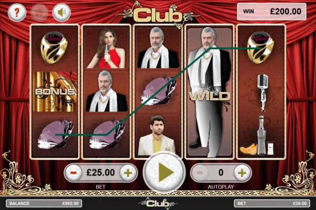 Club :: Expanded wild triggers multiple winning paylines.