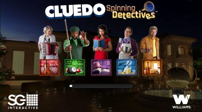 Slots Magic featuring the Video Slots Cluedo Spinning Detectives with a maximum payout of $250,000