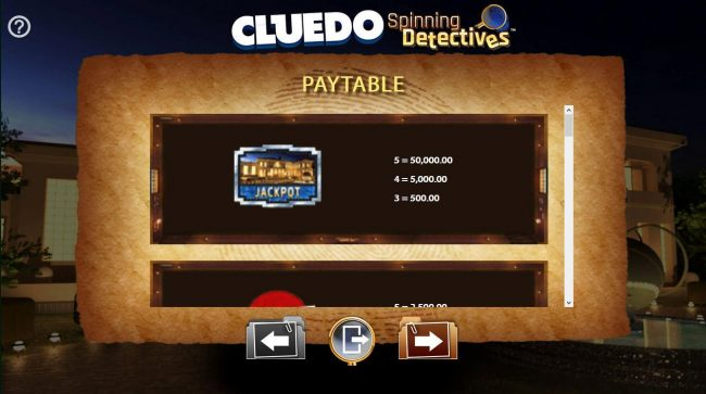 Cluedo Spinning Detectives :: High value slot game symbols paytable.