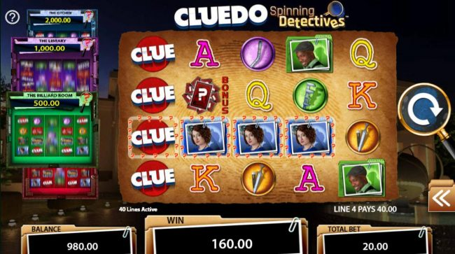 Cluedo Spinning Detectives :: A winning Four of a Kind.