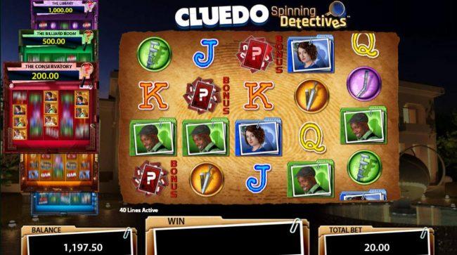 Cluedo Spinning Detectives :: Bonus feature triggered.