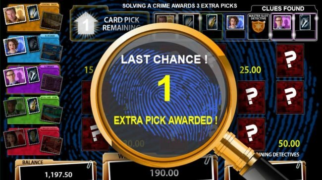 Cluedo Spinning Detectives :: Last Chance 1 Extra Pick Awarded.