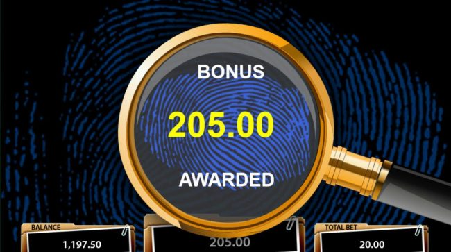 Cluedo Spinning Detectives :: Bonus Game pays out a total of 205.00