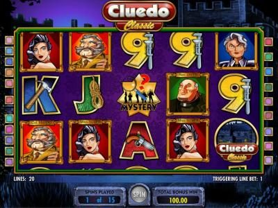 Cluedo - Classic :: free spins feature game board