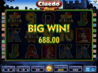 Cluedo - Classic :: big win 688 coins paid out