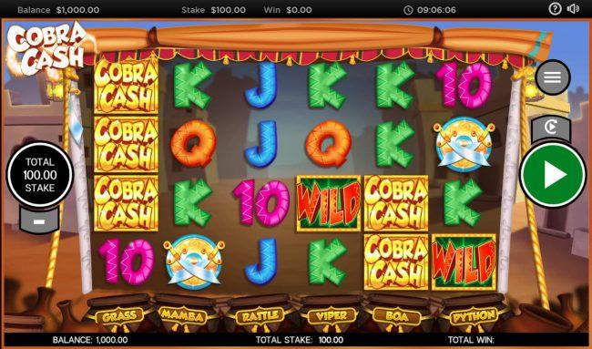 Cobra Cash :: Main Game Board