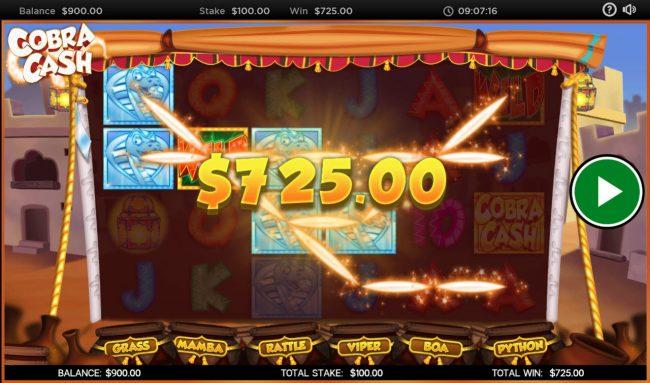 Cobra Cash :: Multiple winning paylines