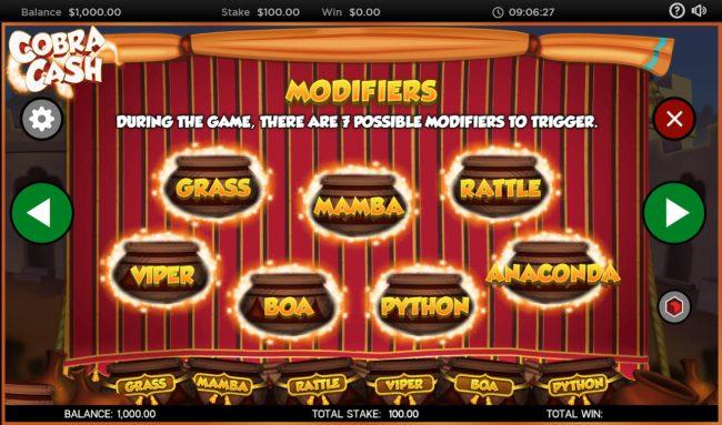 Cobra Cash :: Reel Modifiers