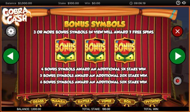 Cobra Cash :: Scatter Symbol Rules