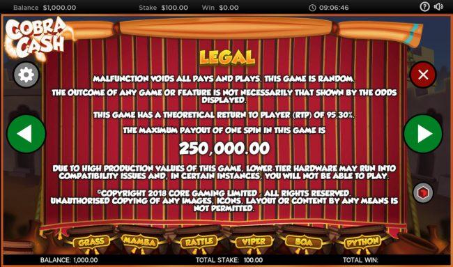 Cobra Cash :: General Game Rules