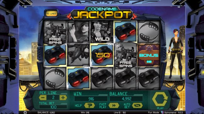 Codename: Jackpot :: Multiple winning paylines