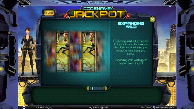 Codename: Jackpot :: Expanding Wild