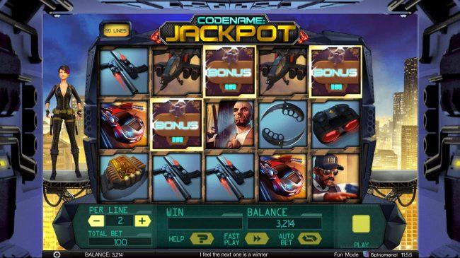 Codename: Jackpot :: Scatter win triggers the bonus feature