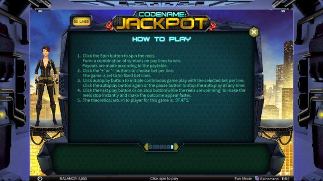 Codename: Jackpot :: General Game Rules