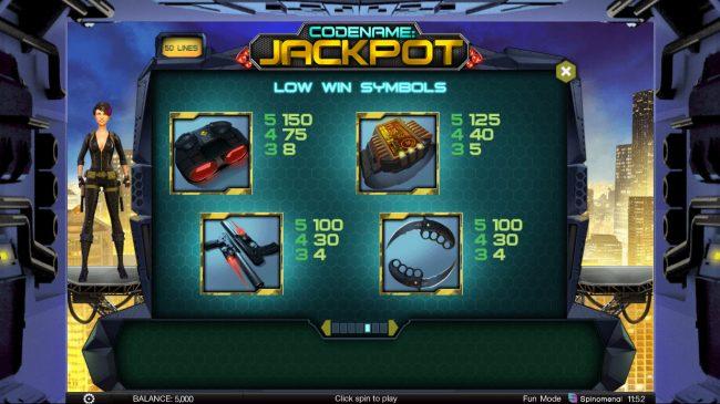 Codename: Jackpot :: Low Value Symbols