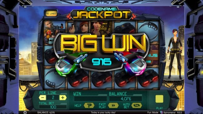 Africa Casino featuring the Video Slots Codename: Jackpot with a maximum payout of $400,000