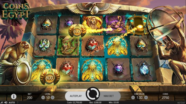 Play slots at Jackpot Mobile: Jackpot Mobile featuring the Video Slots Coins of Egypt with a maximum payout of $60,000