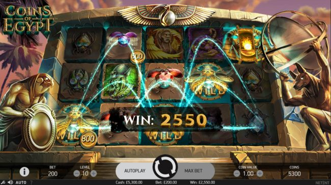 Play slots at Betting Ways: Betting Ways featuring the Video Slots Coins of Egypt with a maximum payout of $60,000