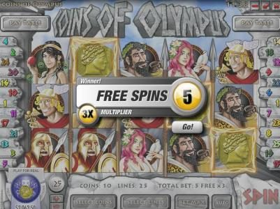 Rockbet featuring the Video Slots Coins of Olympus with a maximum payout of $10,000
