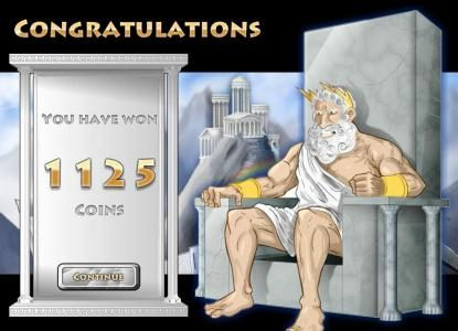 Win Paradise featuring the Video Slots Coins of Olympus with a maximum payout of $10,000