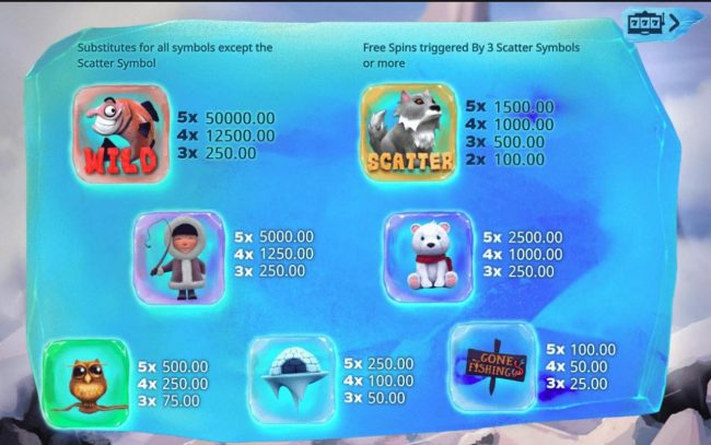 Unique Casino featuring the Video Slots Cold Cash with a maximum payout of $50,000