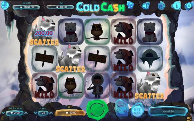 Noxwin featuring the Video Slots Cold Cash with a maximum payout of $50,000