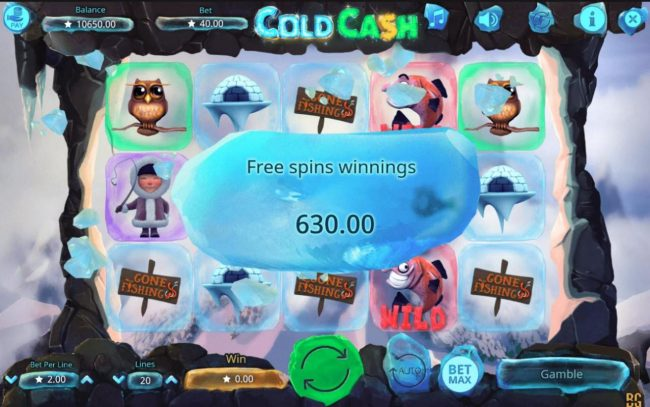 Casino Dingo featuring the Video Slots Cold Cash with a maximum payout of $50,000