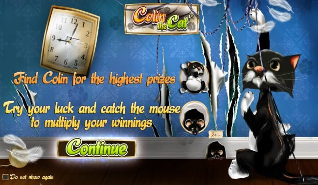 Play slots at iLucki: iLucki featuring the Video Slots Colin the Cat with a maximum payout of $20,000