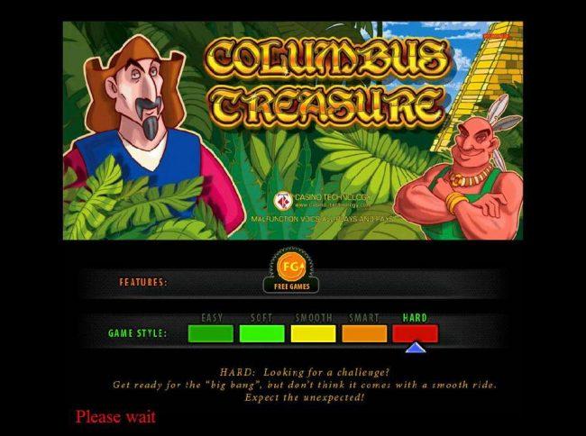 Play slots at Slotman: Slotman featuring the Video Slots Columbus Treasure with a maximum payout of $500,000