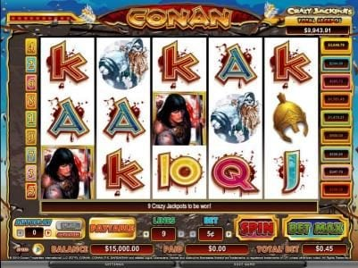 Play slots at Casiplay: Casiplay featuring the Video Slots Conan The Barbarian with a maximum payout of $3,750