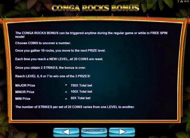 Congr Rocks Bonus Game Rules