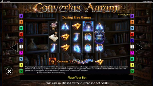 Stan James featuring the Video Slots Convertus Aurum with a maximum payout of $250,000