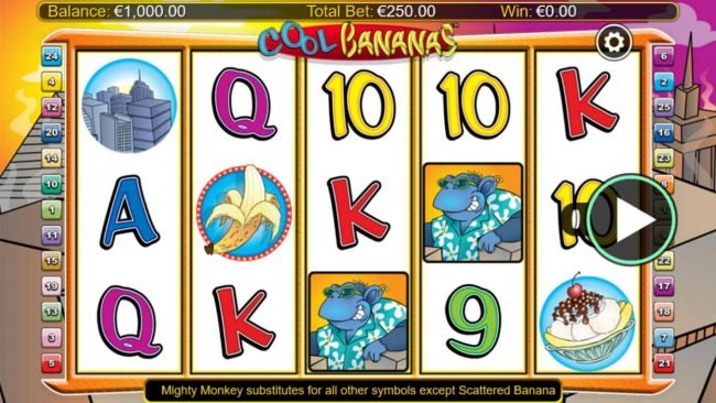 All Irish featuring the Video Slots Cool Bananas Classix with a maximum payout of $50,000
