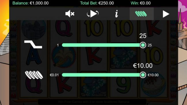 Napoli featuring the Video Slots Cool Bananas Classix with a maximum payout of $50,000