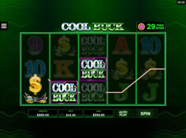 Play slots at BGO Vegas: BGO Vegas featuring the Video Slots Cool Buck 5 Reel with a maximum payout of $107,500