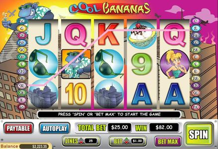 Red Stag featuring the Video Slots Cool Bananas with a maximum payout of $50,000