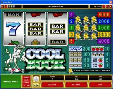 Play slots at Yukon Gold: Yukon Gold featuring the Video Slots Cool Buck with a maximum payout of $30,000