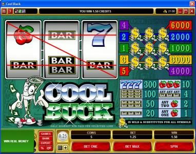 Heaven Bet featuring the Video Slots Cool Buck with a maximum payout of $30,000
