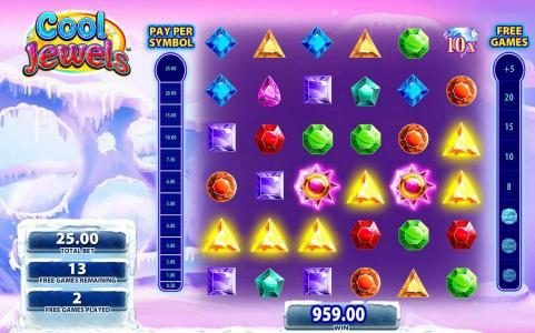 EU Casino featuring the Video Slots Cool Jewels with a maximum payout of $250,000