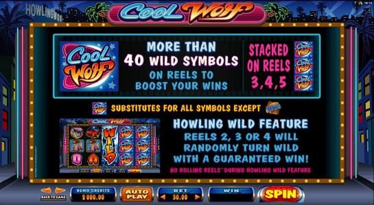 Players Palace featuring the Video Slots Cool Wolf with a maximum payout of $525,000
