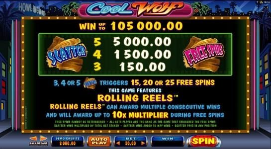 Vegas Country featuring the Video Slots Cool Wolf with a maximum payout of $525,000