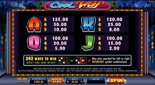 Heaven Bet featuring the Video Slots Cool Wolf with a maximum payout of $525,000