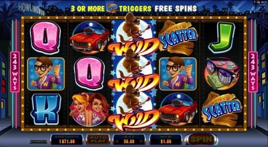 Golden Boys Bet featuring the Video Slots Cool Wolf with a maximum payout of $525,000