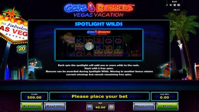 Cops 'n' Robbers Vegas Vacation :: Spotlight Wilds