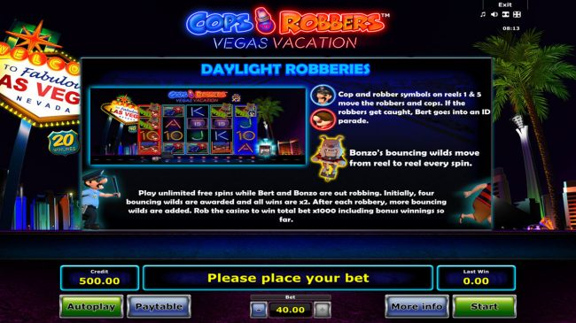 Cops 'n' Robbers Vegas Vacation :: Daylight Robberies
